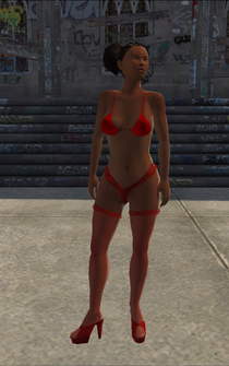 Stripper - Black - bikini - character model in Saints Row