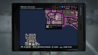 University Dock - map marker