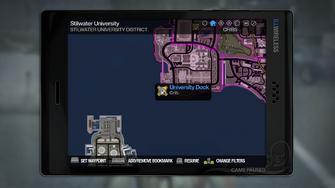 University Dock - map marker