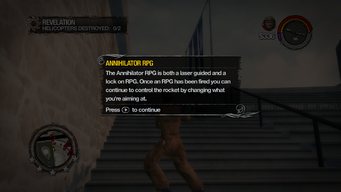 Annihilator RPG introduction in Saints Row 2