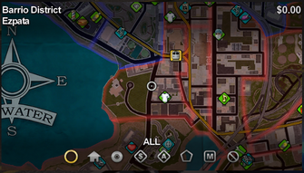 Ezpata map in Saints Row