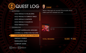 Gat out of Hell Challenge - Complete All Survival Diversions