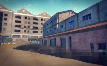 Stoughton in Saints Row 2 - flooded warehouses