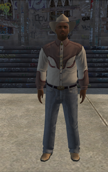 Cowboy - black-jacket - character model in Saints Row