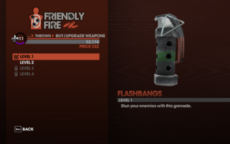 Flashbangs in Saints Row The Third - Level 1 description