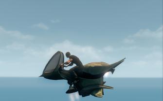 Scythe in hover mode - left