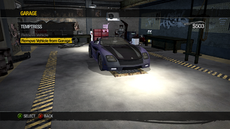Temptress can be removed from Garage