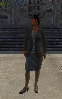 BusinessWoman-01 - Black - character model in Saints Row