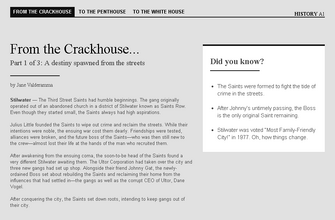 Saints Row website - History - From the Crackhouse