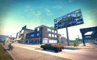 Sunsinger in Saints Row 2 - On The Rag billboard