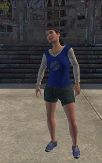 Westside Rollerz female Thug1-01 - asian - character model in Saints Row