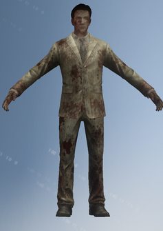 Zombie - businessman - character model in Saints Row IV
