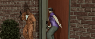 Bleeding Out - Playa and Gat entering Aisha's house