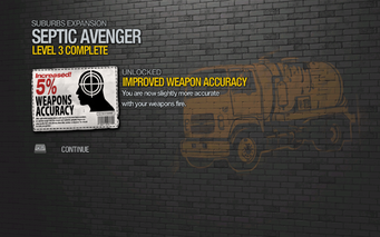 Improved Weapon Accuracy 5% unlocked by Septic Avenger level 3 in Saints Row 2