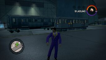 El Train - outside garage via modding in Saints Row 2