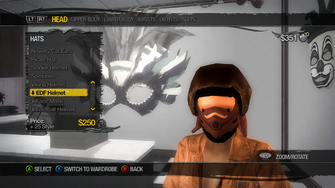 Head - Hats - EDF Helmet