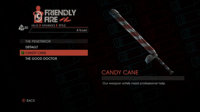 Weapon - Melee - Dildo Bat - The Penetrator - Candy Cane