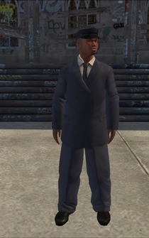 Chauffeur - black blue - character model in Saints Row