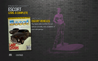 Escort Vehicles unlocked by Escort Level 6 in Saints Row 2