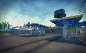 Truck Yard in Saints Row 2 - Gas Station