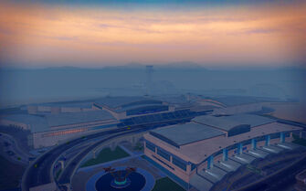 Wardill Airport in Saints Row 2 - aerial view