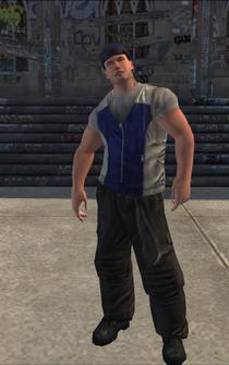 Westside Rollerz male Killa2-02 - white - character model in Saints Row
