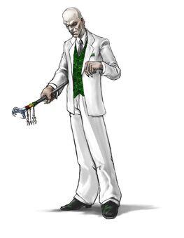 Mr. Sunshine Concept Art 01 - White painted skin & suit