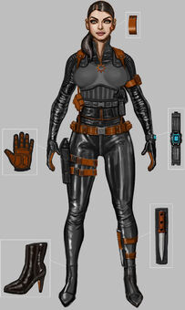 Saints Row Money Shot - Cypher assassin concept art