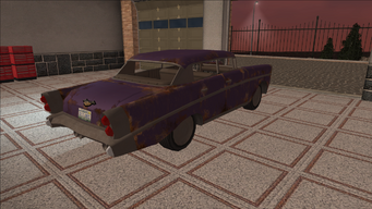 Saints Row variants - Hollywood - BeaterPurple1 - rear right