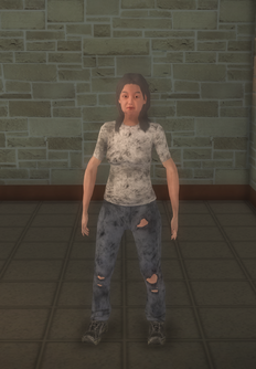 Bum - white female - character model in Saints Row 2