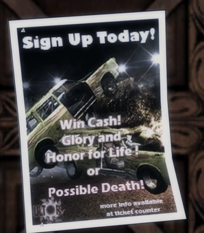 Demo derby poster Saints Row 2 in-game