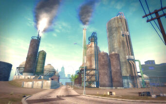Pilsen in Saints Row 2 - refinery road