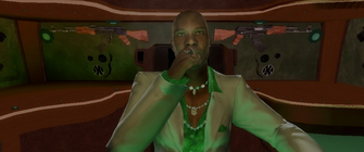 The General smoking a cigar