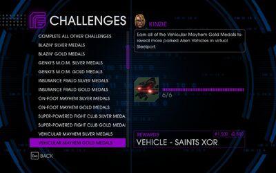 Challenge 21 Vehicular Mayhem Gold Medals
