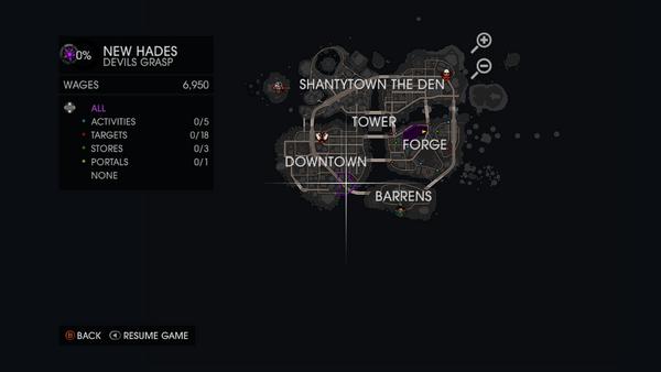 Devils Grasp on map