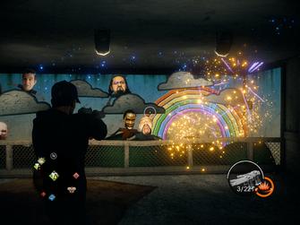 Let's Pretend basement developer heads exploding in Saints Row IV