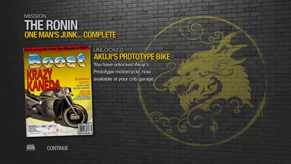 One Man's Junk... - Akuji's Prototype Bike unlocked