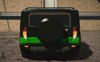 Saints Row IV variants - Bulldog luchadore - rear