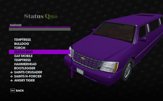 Status Quo in the Garage in Saints Row The Third