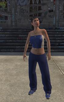 Westside Rollerz female Thug1-03 - asian - character model in Saints Row