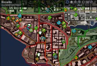 Map in Saints Row 2 - Barrio - Encanto
