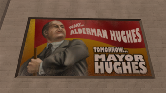 Richard Hughes billboard - Today Alderman Hughes, Tomorrow Mayor Hughes