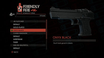 Weapon - Pistols - Heavy Pistol - .45 Fletcher - Onyx Black