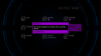 Camera warning in Saints Row IV