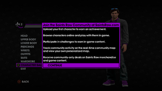 Character Gallery introduction in Saints Row The Third