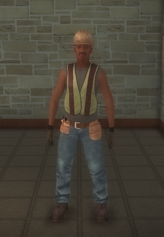 Construction - black road - character model in Saints Row 2