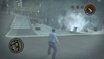 Flashbang exploding in Saints Row 2