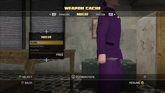Saints Row Weapon Cache - Melee - Knife
