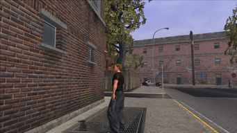 The Streets of Stilwater - view north from graffiti out of cutscene