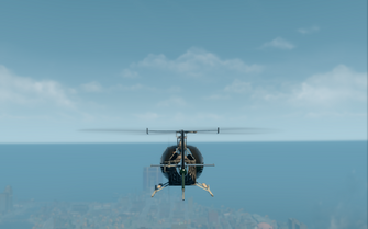 Thompson - rear in flight in Saints Row The Third